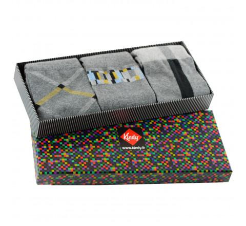 Boite cadeau 3 paires de chaussettes fabriquées en France