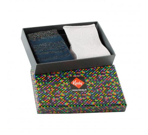 Boite cadeau 2 paires de chaussettes Lurex