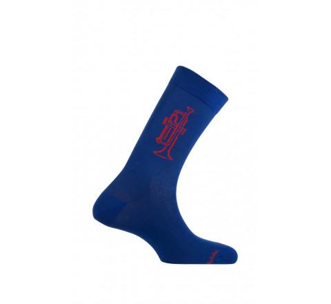 Mi-chaussettes motif Trompette en coton