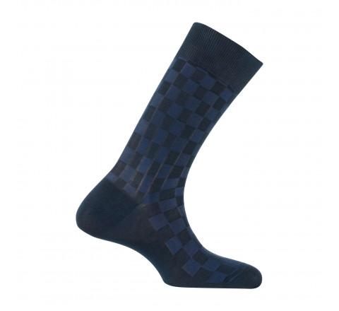 Chaussettes effet tressage fabriquées en France en fil d'écosse