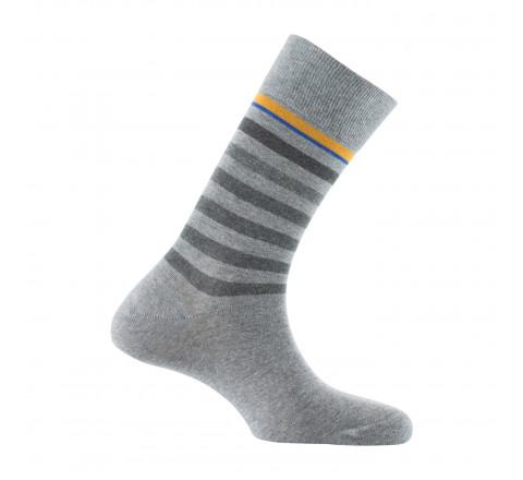 Mi-chaussettes rayées fabriquées en France