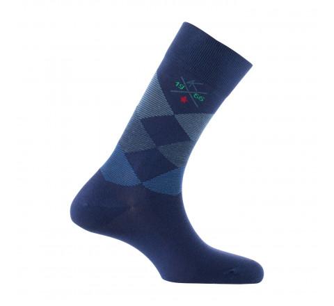 Mi-chaussettes jacquard fabriquées en France