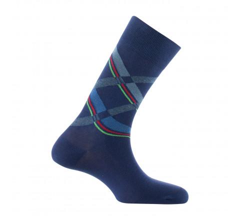 Mi-chaussettes en coton fabriquées en France