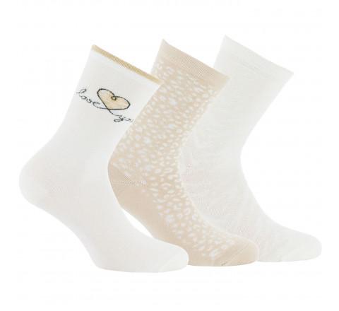 Lot de 3 paires de chaussettes tendances en coton