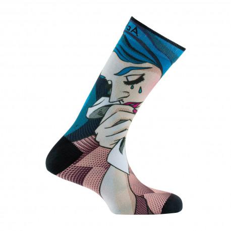 Chaussettes imprimées motif Manga en coton