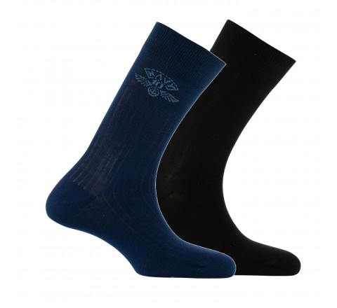 Lot de 2 paires de mi-chaussettes fantaisies Navy
