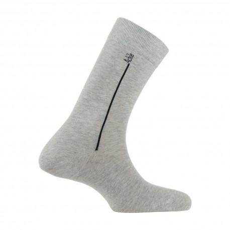 Mi-chaussettes Signature en coton peigné