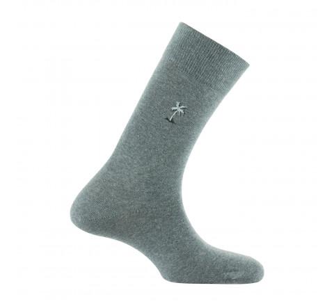 Mi-chaussettes surbrodées Palmier en coton
