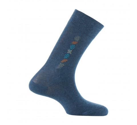 Mi-chaussettes baguette jungle en coton