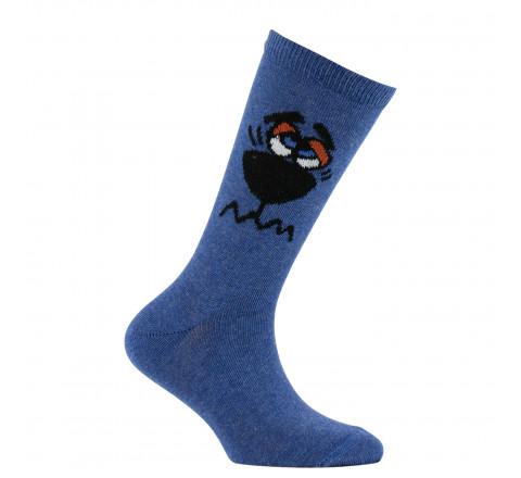 Mi-chaussettes Oiseau en coton