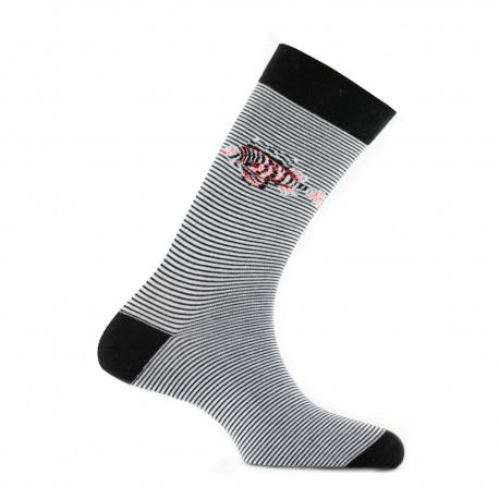 Mi-chaussettes poissons-lions en coton