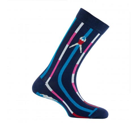 Mi-chaussettes mixtes Piscine en coton