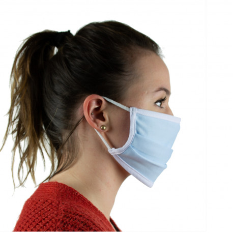 Masque barrière en tissu homologué